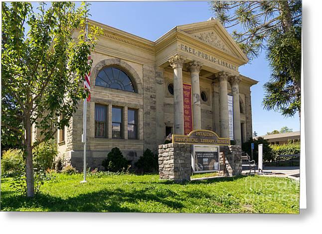 Petaluma Free Public Library And Petaluma Museum Petaluma California Usa Dsc3782 Greeting Card by Wingsdomain Art and Photography