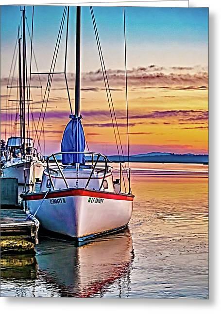 Petaluma River Sunrise Greeting Card