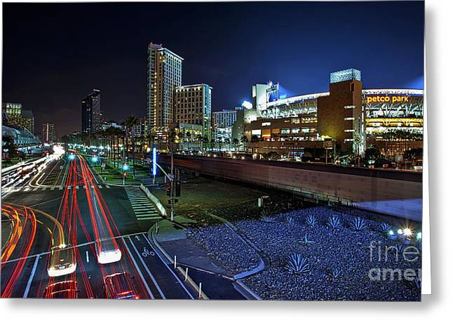 Petco Park And Downtown San Diego Greeting Card by Sam Antonio Photography
