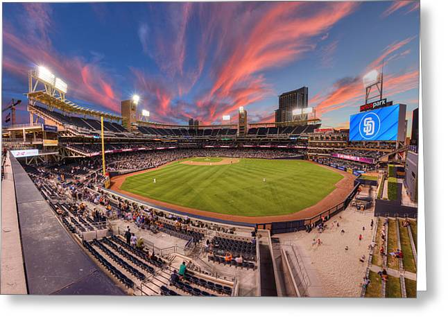 Petco Park - Farewell To 2015 Season Greeting Card by Mark Whitt