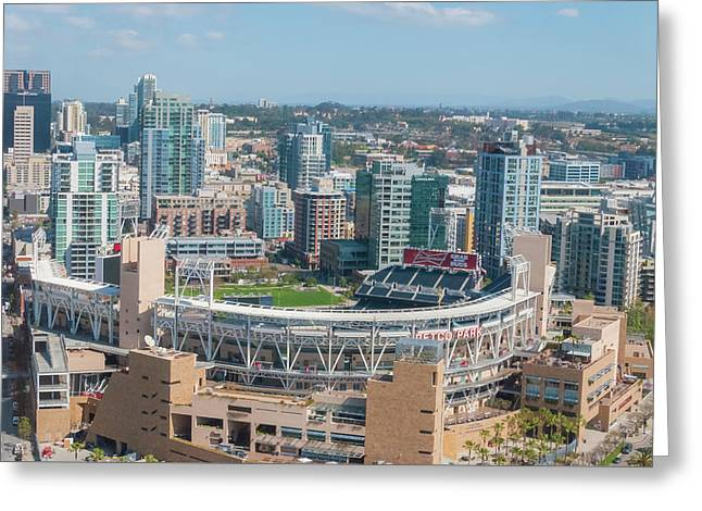 Petco Park Greeting Card by Pamela Williams