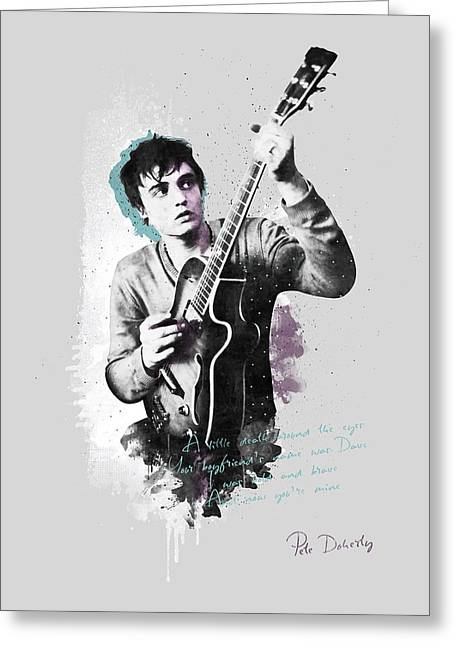 Pete Doherty A Little Death Around The Eyes Greeting Card
