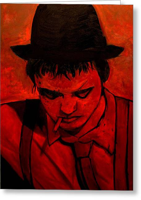 Anthony Jensen Greeting Cards - Pete Doherty  Greeting Card by Anthony Jensen