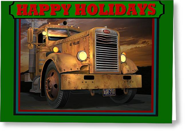 Pete Ol' Yeller Happy Holidays Greeting Card by Stuart Swartz
