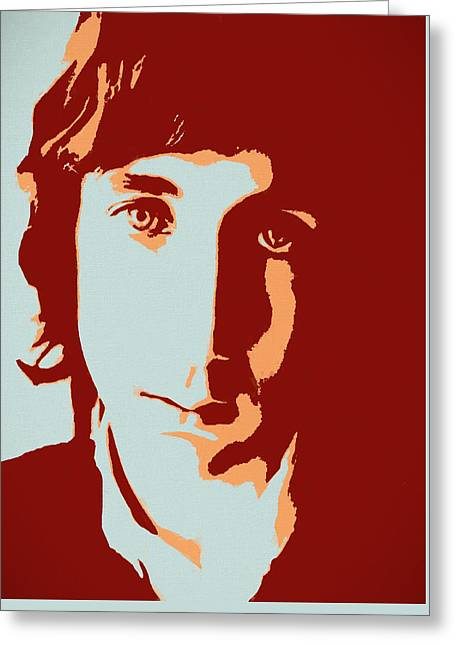 Pete Townshend Pop Art Greeting Card