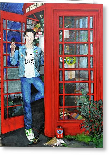 Peter Capaldi Dr Who Putting You Through Greeting Card