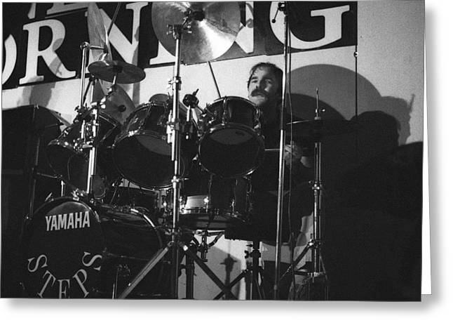 Peter Erskine Steps In The Morning Greeting Card by Philippe Taka
