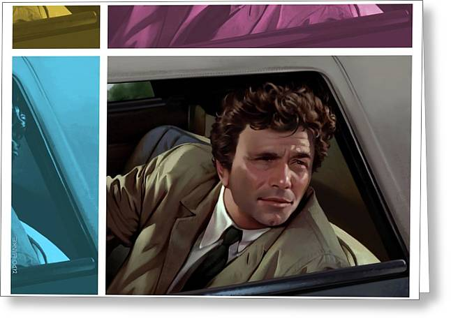 Peter Falk 1973  Greeting Card