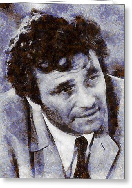 Peter Falk Columbo Greeting Card by Esoterica Art Agency