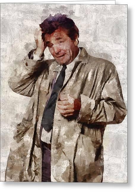 Peter Falk, Columbo Greeting Card