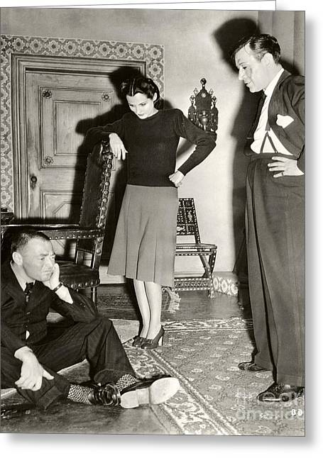Peter Lorre Brenda Marshall George Raft 1942 Greeting Card by Sad Hill - Bizarre Los Angeles Archive