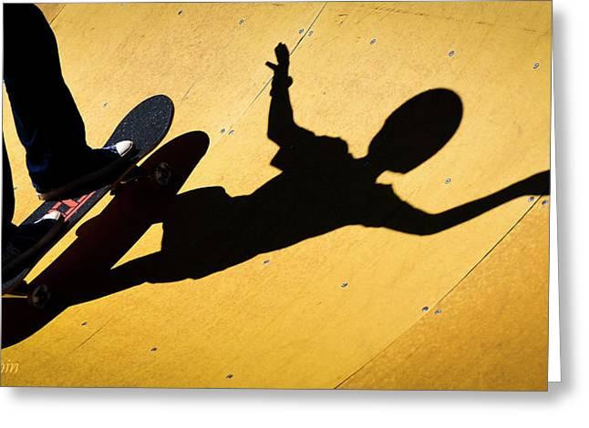 Peter Pan Skate Boarding Greeting Card