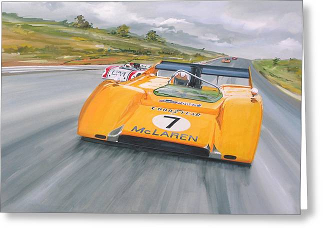 Peter Revson Can Am Greeting Card