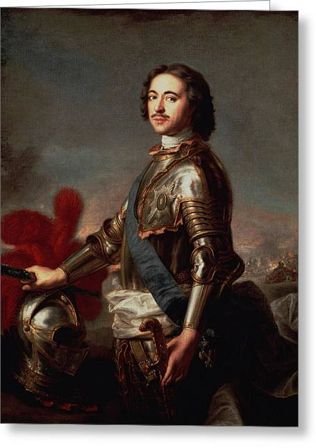 Peter The Great Portrait Greeting Card by War Is Hell Store