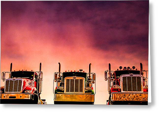 Peterbilt  Landscape Greeting Card by Bob Orsillo