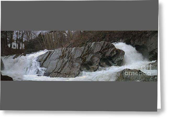 Petersburgh Falls Greeting Card by Alan Del Vecchio