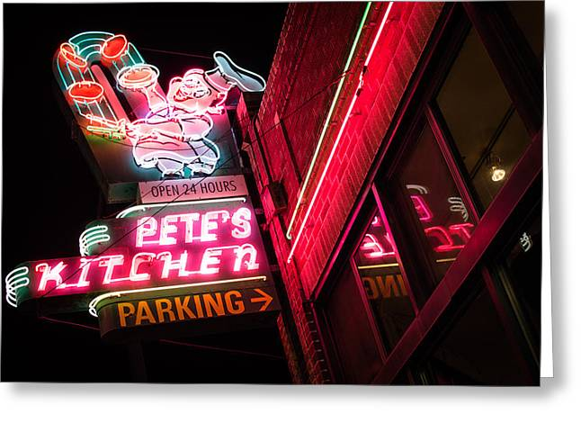 Pete's On Colfax Greeting Card