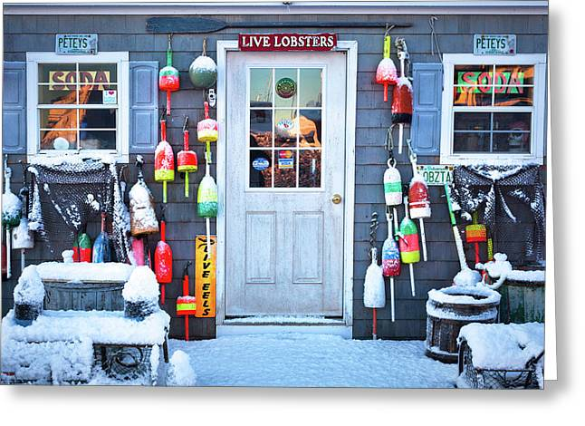 Peteys Lobster Pound Rye Nh Greeting Card
