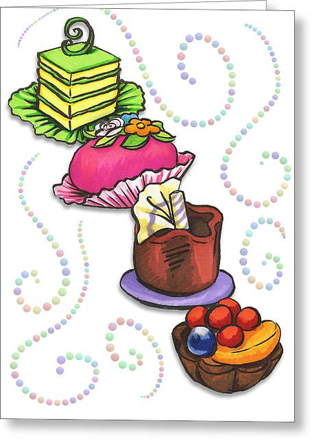 Petit Fours Greeting Card by Rachel Marquez