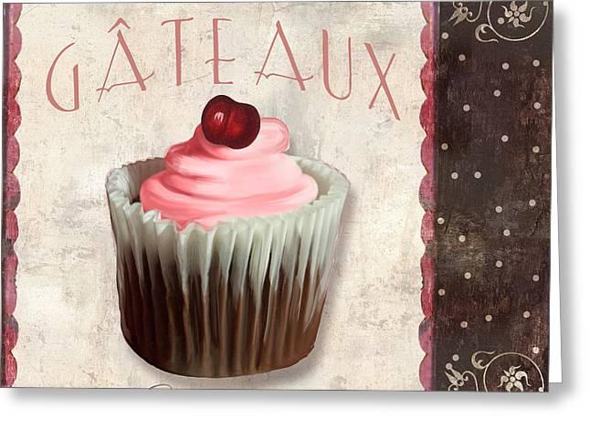 Petits Gateaux Chocolat Patisserie Greeting Card