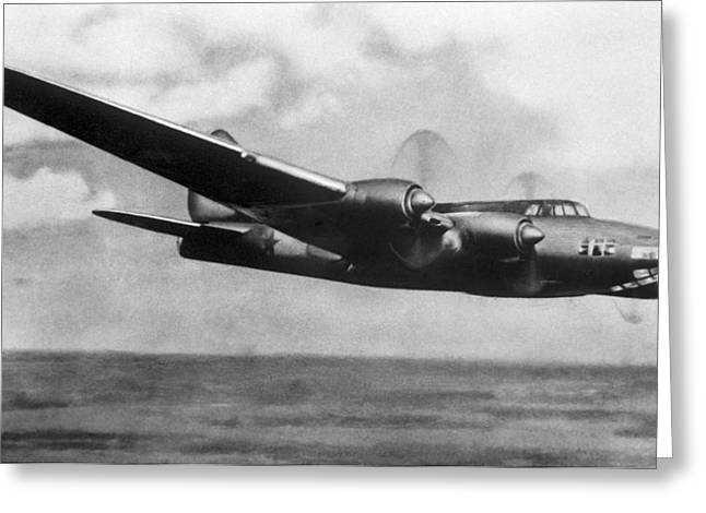 Petlyakov Pe-8, Soviet Ww2 Bomber Greeting Card by Ria Novosti