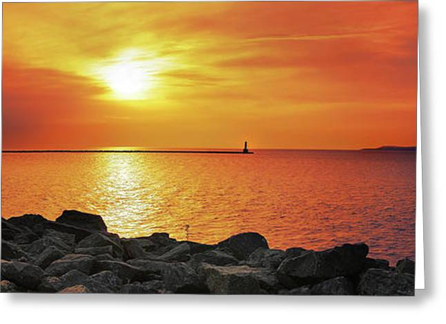 Petoskey Sunset Greeting Card
