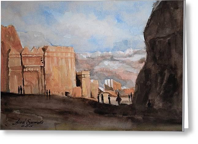 Petra 1 Greeting Card by Arnel Sarmiento