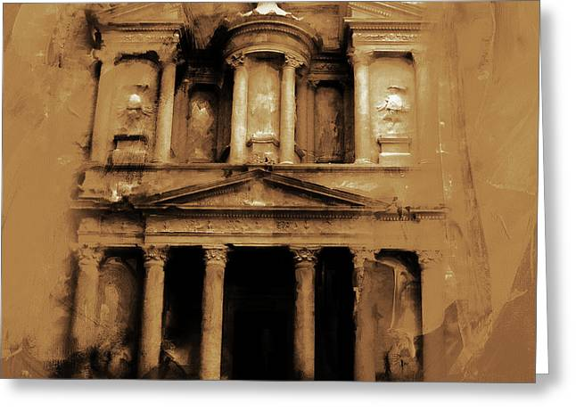 Petra Jordan Art Greeting Card by Gull G