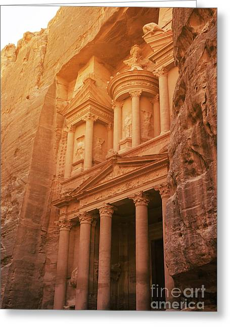 Petra Treasury, Jordan Greeting Card by Jelena Jovanovic