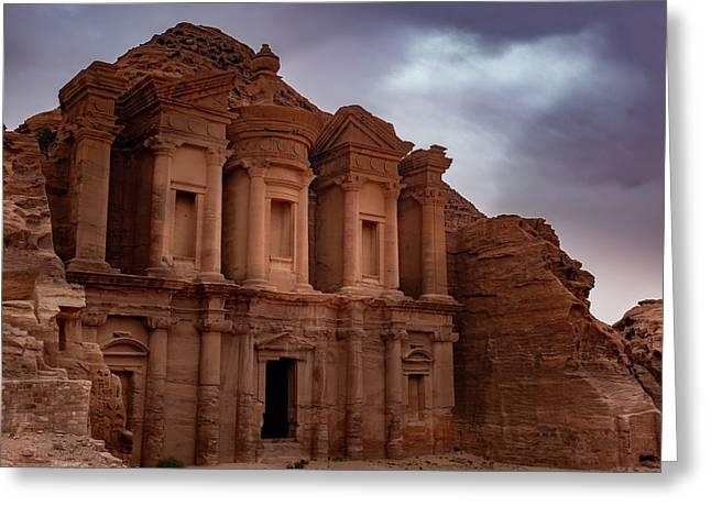 Petra's Monastery Greeting Card