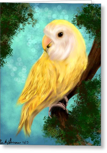 Petrie The Lovebird Greeting Card