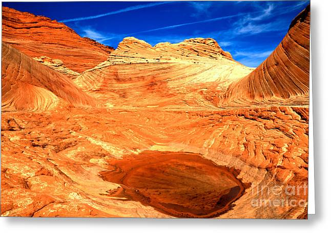 Petrified Sand Dune Pool Greeting Card by Adam Jewell