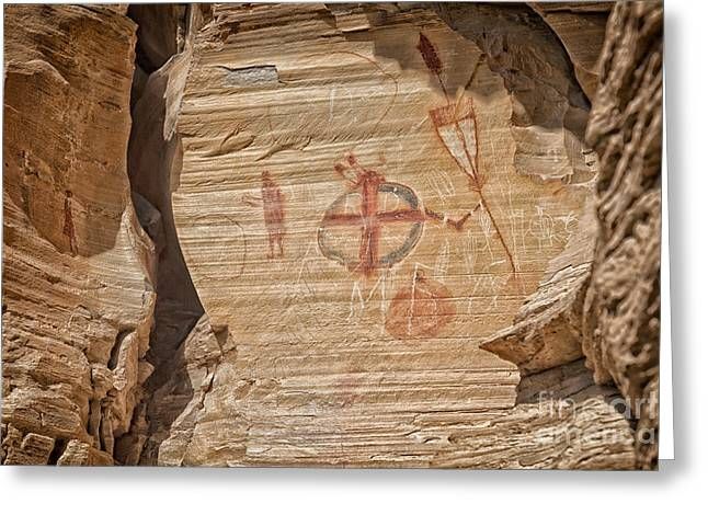 Petroglyph And Pictographs I Greeting Card