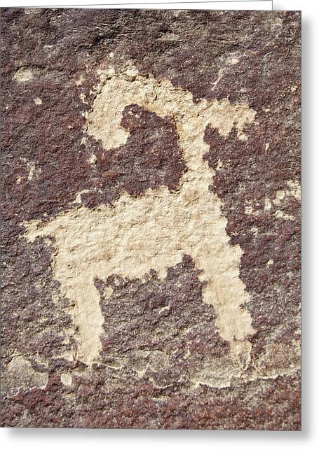 Greeting Card featuring the photograph Petroglyph - Fremont Indian by Breck Bartholomew