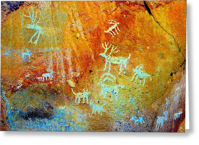 Petroglyph Panel Work 12 Greeting Card