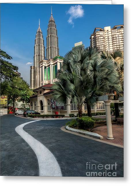Petronas Towers Greeting Card