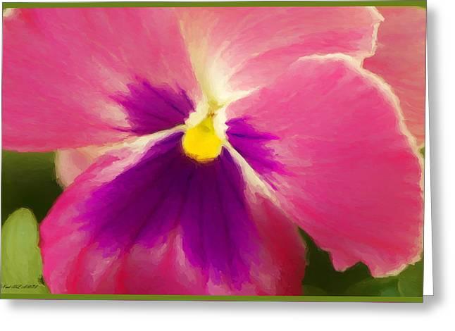Petunia In Bloom Greeting Card by Debra Lynch