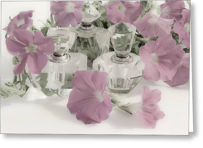 Petunias And Perfume - Soft Greeting Card