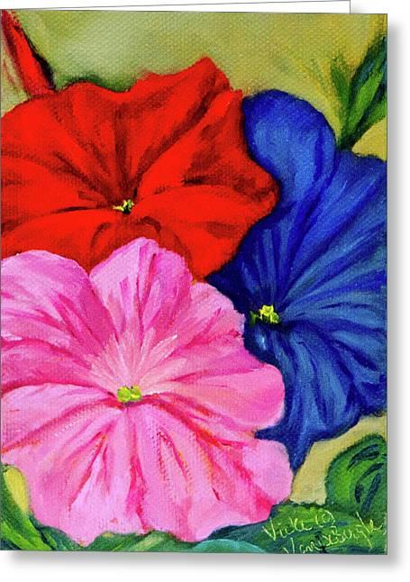 Petunias Mixed Greeting Card