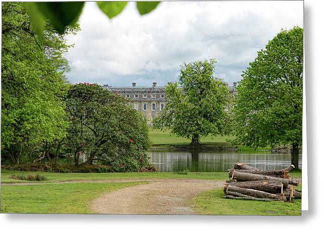 Petworth House On Lake Greeting Card by Michael Hope