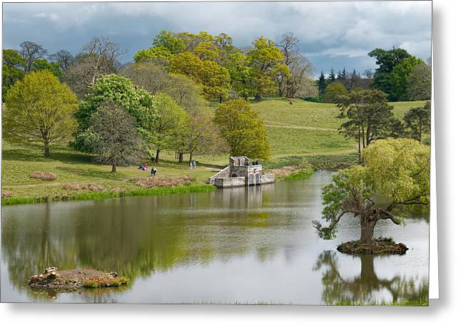 Petworth Lake In April Greeting Card by Michael Hope