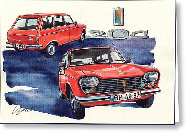 Peugeot 204 Sw Greeting Card