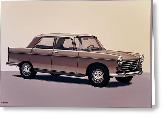 Peugeot 404 1960 Painting Greeting Card by Paul Meijering