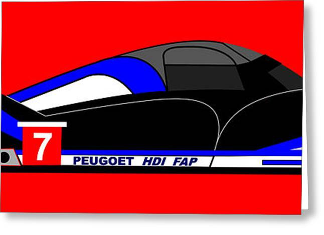 Peugeot 908 Hdi Sat - No. 7 Greeting Card by Asbjorn Lonvig