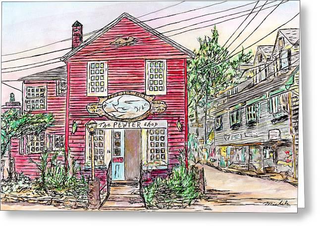 Pewter Shop, Rockport Massachusetts Greeting Card