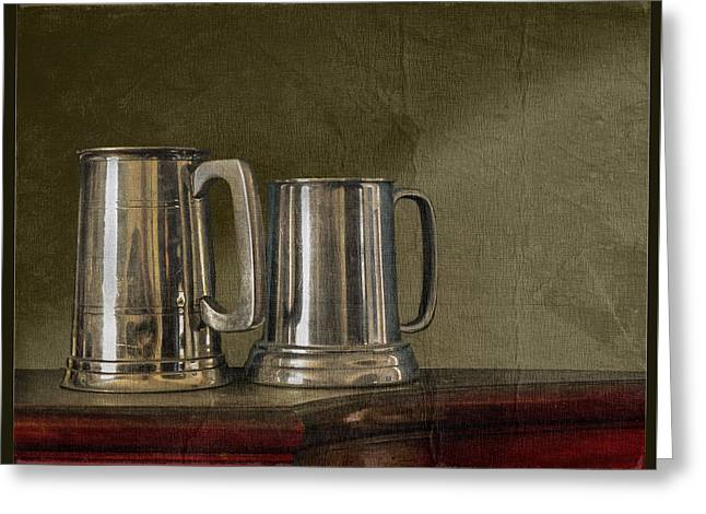 Pewter Tones Greeting Card by John Anderson