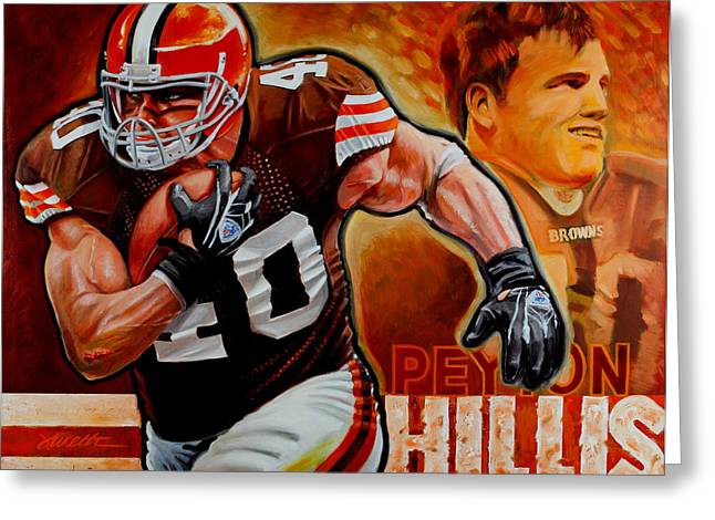 Peyton Hillis Greeting Card