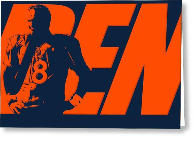 Peyton Manning City Name Greeting Card by Joe Hamilton