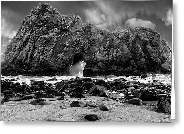 Pfeiffer Arch Black And White Greeting Card