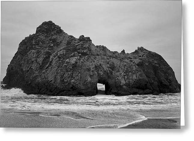 Pfeiffer Beach II Bw Greeting Card